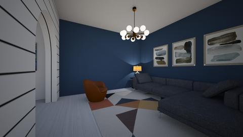B L U E 519 - Living room - by Puppies44