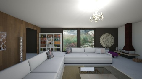 Life near mountains - Living room - by Tara T