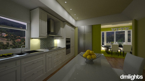 FamilyKitchenandLiving - Kitchen - by DMLights-user-1063855