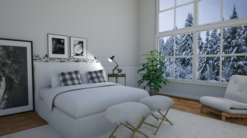 white white white - Eclectic - Bedroom - by duygu123