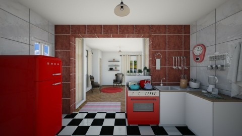 Cozinha Retro - Retro - Kitchen - by Mariesse Paim