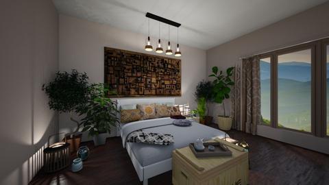 Boho bedroom - Bedroom - by Denisa250