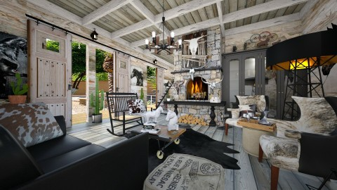 Americana - Rustic - Living room - by Lackew