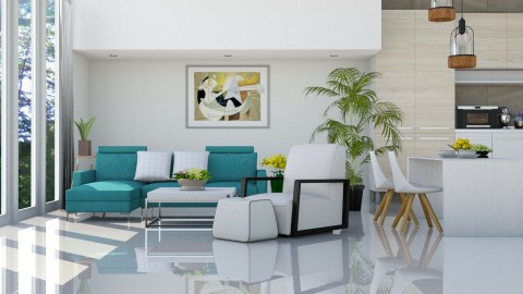 Mr Blue _ Miss White - Eclectic - Living room - by ayu DR