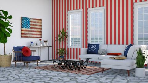 Patriotic Place - Rustic - Living room - by millerfam