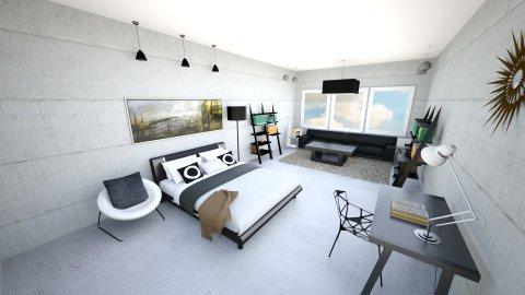 Boring Black Bedroom - Bedroom - by Surim Lee