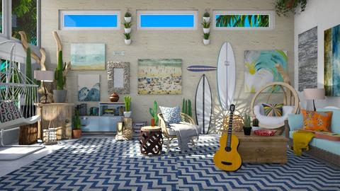 Surf Culture Living - Living room - by  krc60