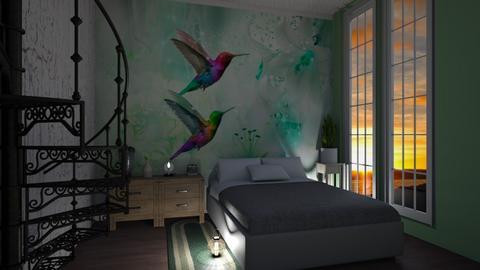 Hummingbird wall murals - Bedroom - by Sue Bonstra