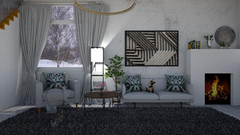 gray - Living room - by cguy67