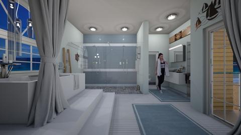 nautical bath - Bathroom - by allday08