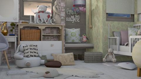 Girl Time - Feminine - Kids room - by Gurns