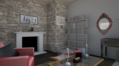 Red and Black - Modern - Living room - by jlove9449