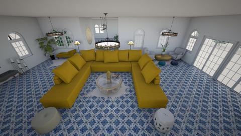 Birds Eye View 2 - Living room - by Orange Blossom Interiors