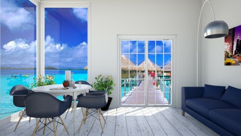 beachhhh - Living room - by Monica V Seke