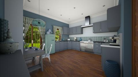 Blue Kitchen - Modern - Kitchen - by camilla_saurus