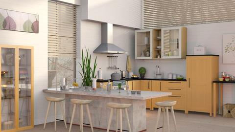 Kitchen with Bar 2 - Kitchen - by Sally Simpson