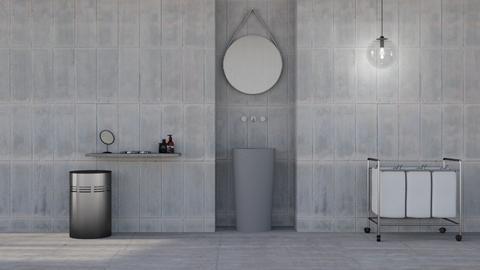 Concrete bathroom - Minimal - Bathroom - by HenkRetro1960