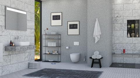 Grey Bathroom - Bedroom - by lovedsign