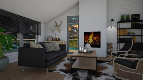 Modern chalet - Living room - by Tuija