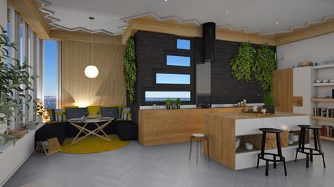 Modern wood kitchen  - by Heddau