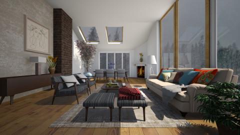 Inverno Aconchegante - Living room - by Sanare Sousa