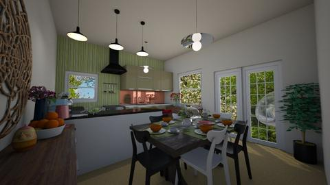 E1_Green Dining - Dining room - by allessa