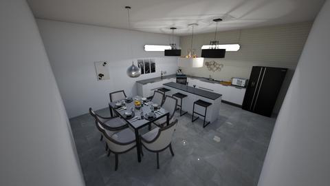 black and white kitchen - Classic - Kitchen - by Braalexdun13