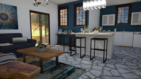Stone Social Room - Rustic - by millerfam