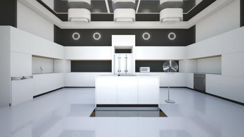 White and Black Kitchen - Kitchen - by Lisa Johnson_284