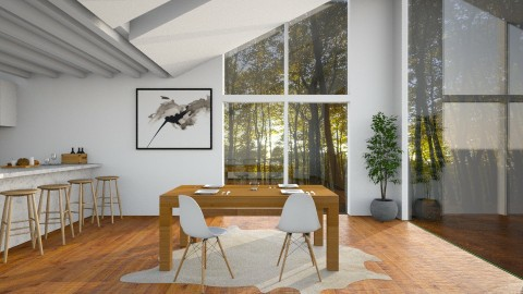 Woods - Dining room - by Naavarin