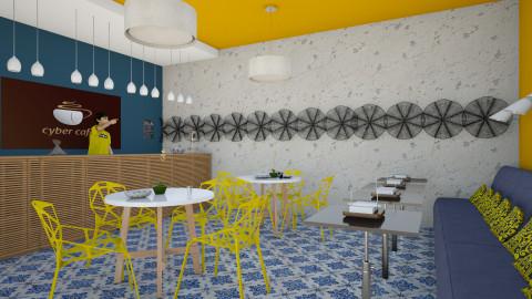 cafe - Dining room - by sorangeld