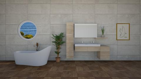 practice bathroom - Minimal - Bathroom - by jammuek