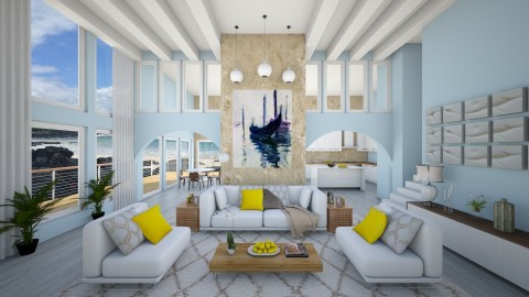 Beach Condo  - Living room - by jeweleyes01