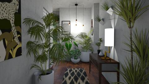 Urban Jungle Hallway - by kyrabaldwin