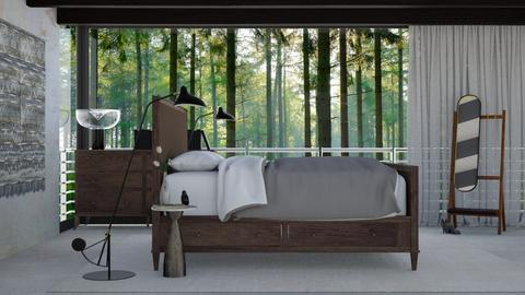 Bed in the woods - Modern - Bedroom - by HenkRetro1960