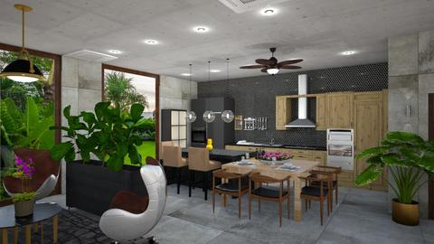 IP Artisan Kitchen - Rustic - Dining room - by MissREZA