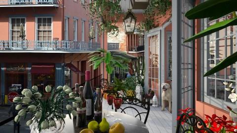 Design 141 Small Balcony French Quarter - Garden - by Daisy320