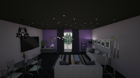 purple is the new black - Living room - by lyub