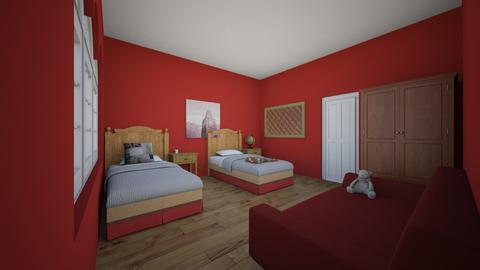 Molly - Retro - Bedroom - by kittytarg
