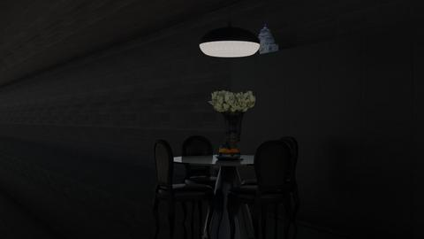 Dark Diner - Minimal - Dining room - by HenkRetro1960