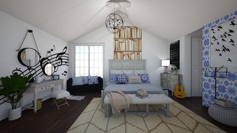 Teen Blue Bedroom - Bedroom - by Rebekah Pincock