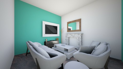 Tiny Teal - Living room - by violetpeaks
