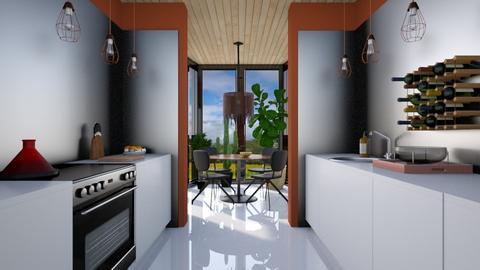 Minimal Breakfast View Kitchen - Kitchen - by 3rdfloor
