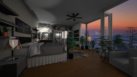 urban jungle bedroom - Bedroom - by angela18076