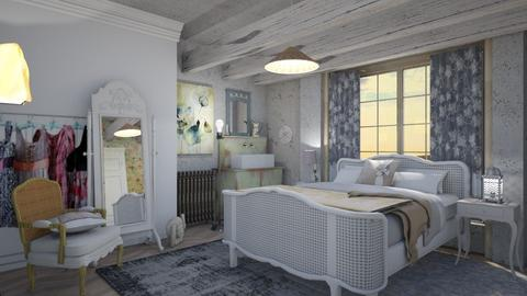 Small chateau bedroom  - Vintage - Bedroom - by augustmoon