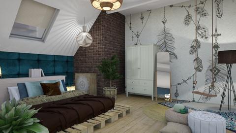 Bohemian Bedroom Blue - Bedroom - by KimAlys