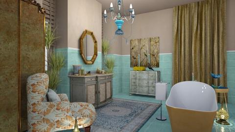 Gold bird - Bathroom - by chania