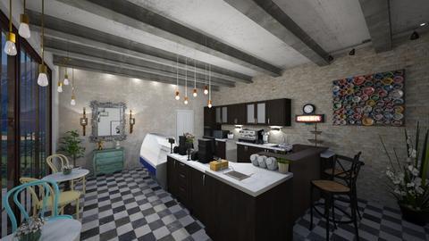 coffee shop - Kitchen - by Christella Werner