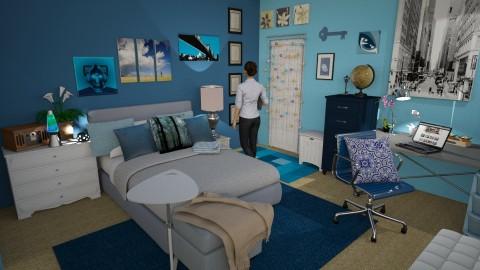 big girl blue - Eclectic - Bedroom - by anchajaya