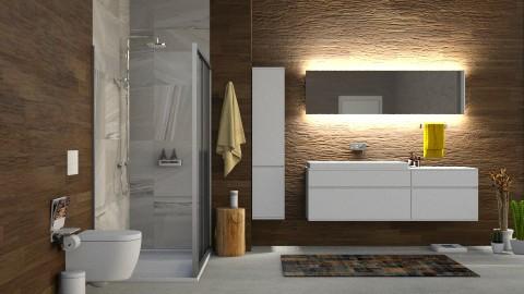 Wood Bathroom - by DeborahArmelin